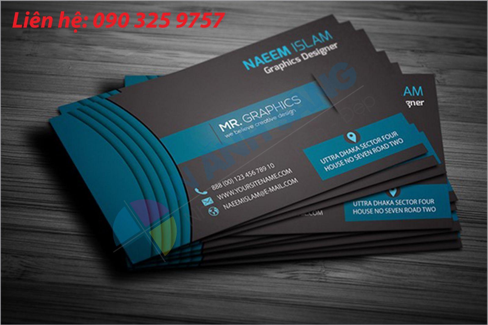 in name card chất liệu giấy mỹ thuật