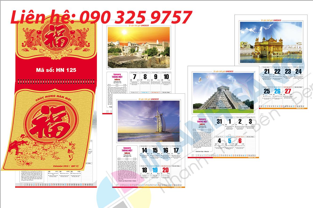 địa chỉ in lịch cá nhân giá rẻ tại Hà Nội