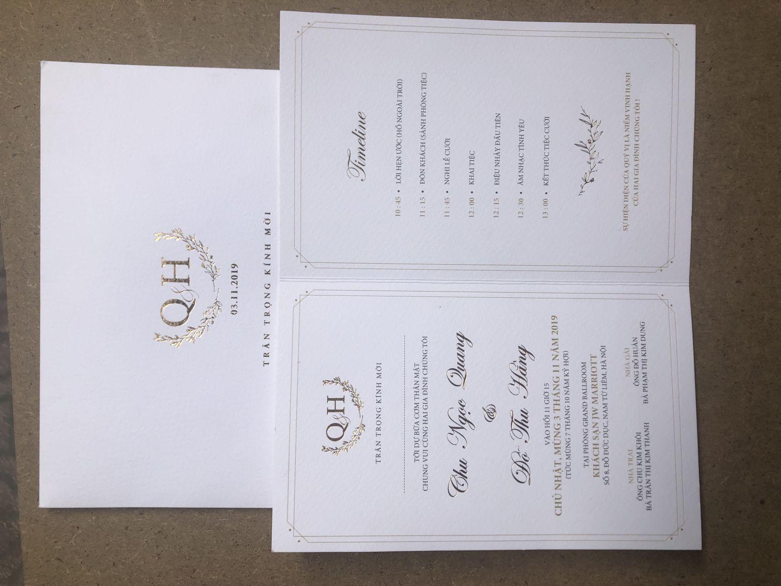 In thiệp cưới lấy ngay theo yêu cầu quý khách hàng
