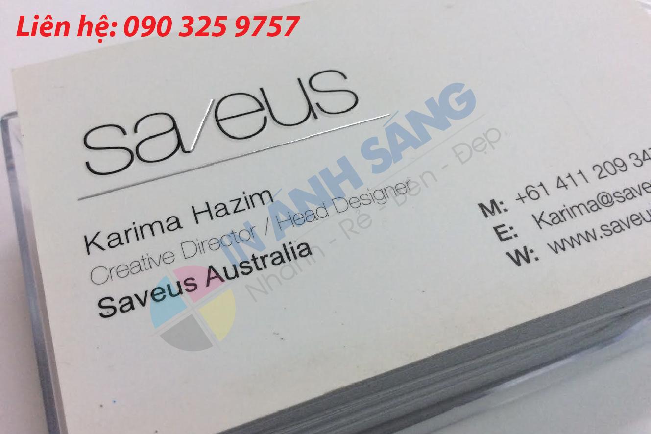 Loại giấy thông thường in name card giá rẻ