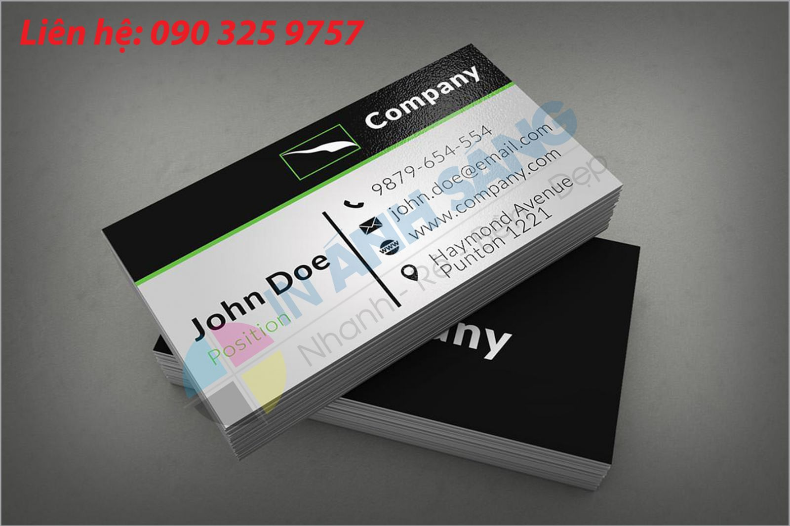 Sự khác biệt giữa in name card giấy C300 và giấy Ford 250gsm