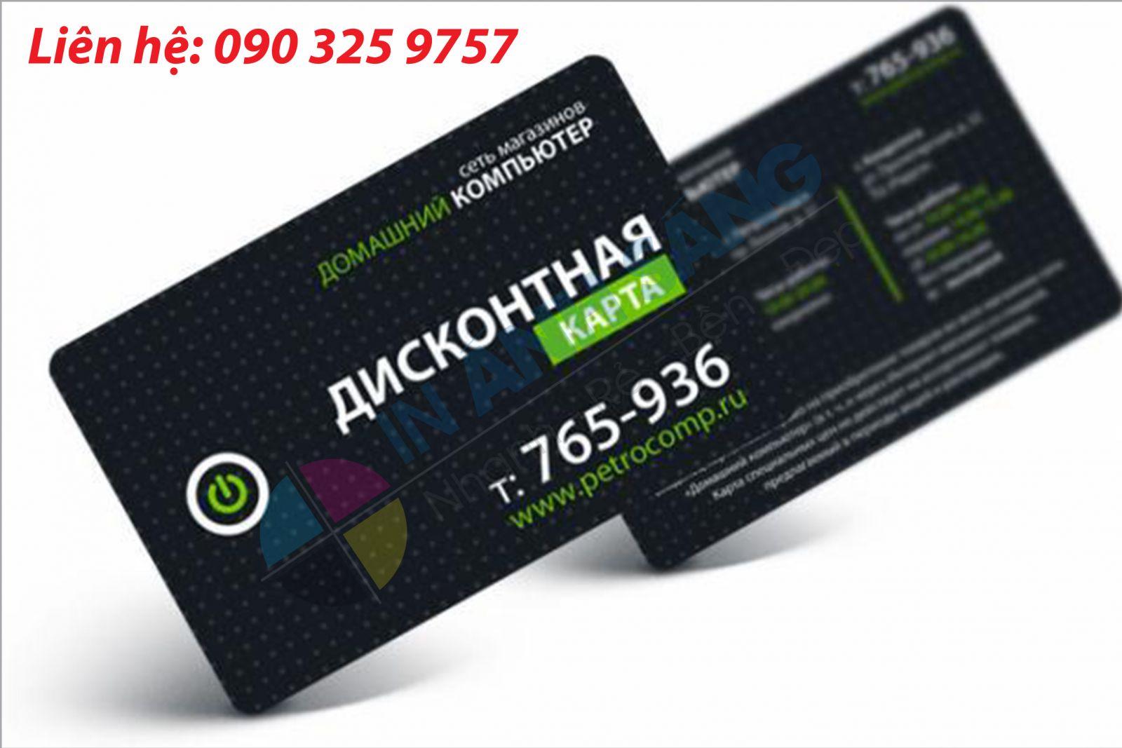 Kích thước sử dụng trong việc in name card nhanh tại HN