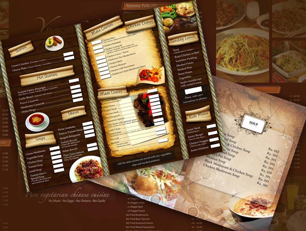 In menu quán ăn tại Hà Nội giá rẻ chất lượng uy tín