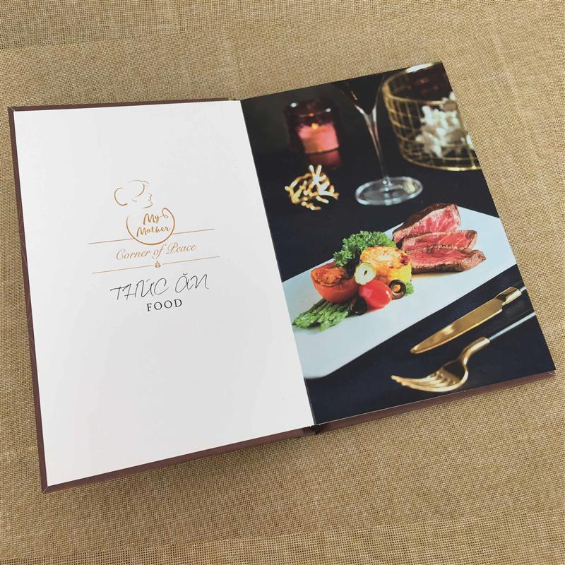 In menu bìa cứng nhanh rẻ đẹp tại In nhanh Ánh Sáng