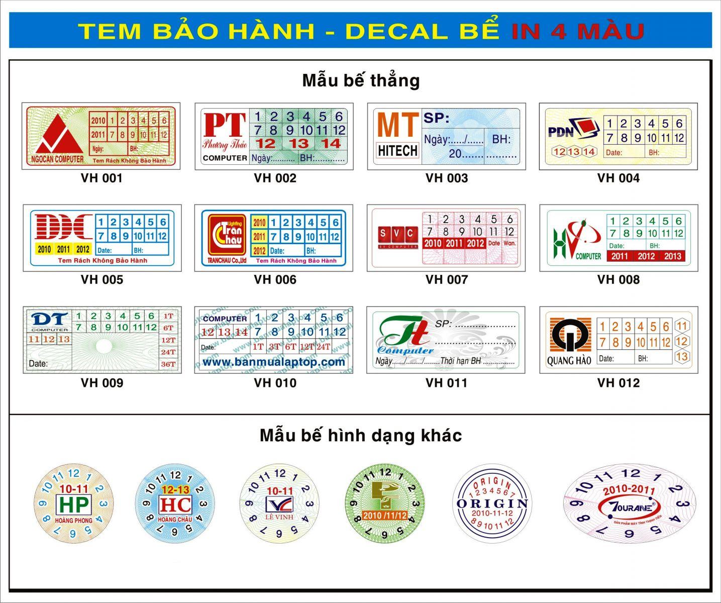 Địa chỉ in tem nhãn sản phẩm uy tín tại Hà Nội