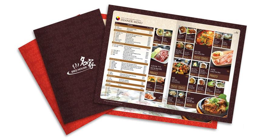 In menu nhà hàng giá rẻ chuyên nghiệp nhất